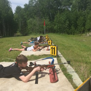 Biathlon training at Falcon Ridge Ski Resort